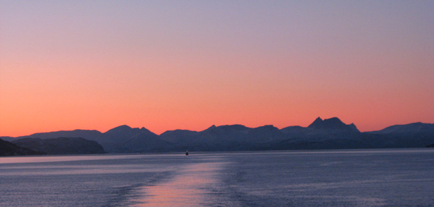 Norwegen - Sonnenlicht