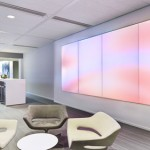 Philips und Quadrat Soft Cells LuminousTextile Wandpaneele