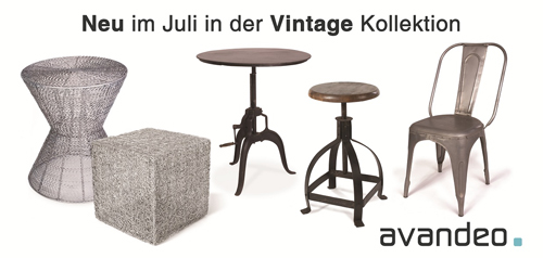 zeitlose m bel von avandeo im angesagten industrial chic sempre. Black Bedroom Furniture Sets. Home Design Ideas