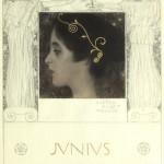 Junius, 1896 Gustav Klimt Schwarze Kreide, Bleistift, laviert, Goldhöhung auf Papier ©Wien Museum