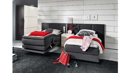 schlafen wie auf wolken evolution und excelsior betten programm von musterring sempre. Black Bedroom Furniture Sets. Home Design Ideas